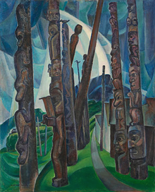 Kitwancool, painting by Emily Carr