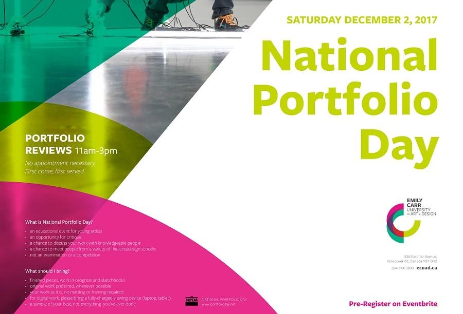 Join Us For National Portfolio Day December 2 2017 Emily Carr