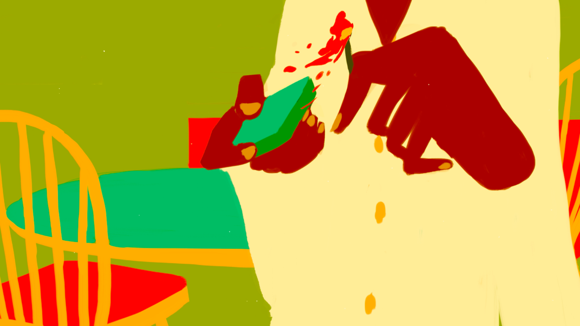 Still from animation film: Bon Appétit Bon Appetight