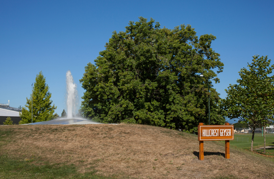 Geyser for Hillcrest Park by Vanessa Kwan and Erica Stocking Photo Cre