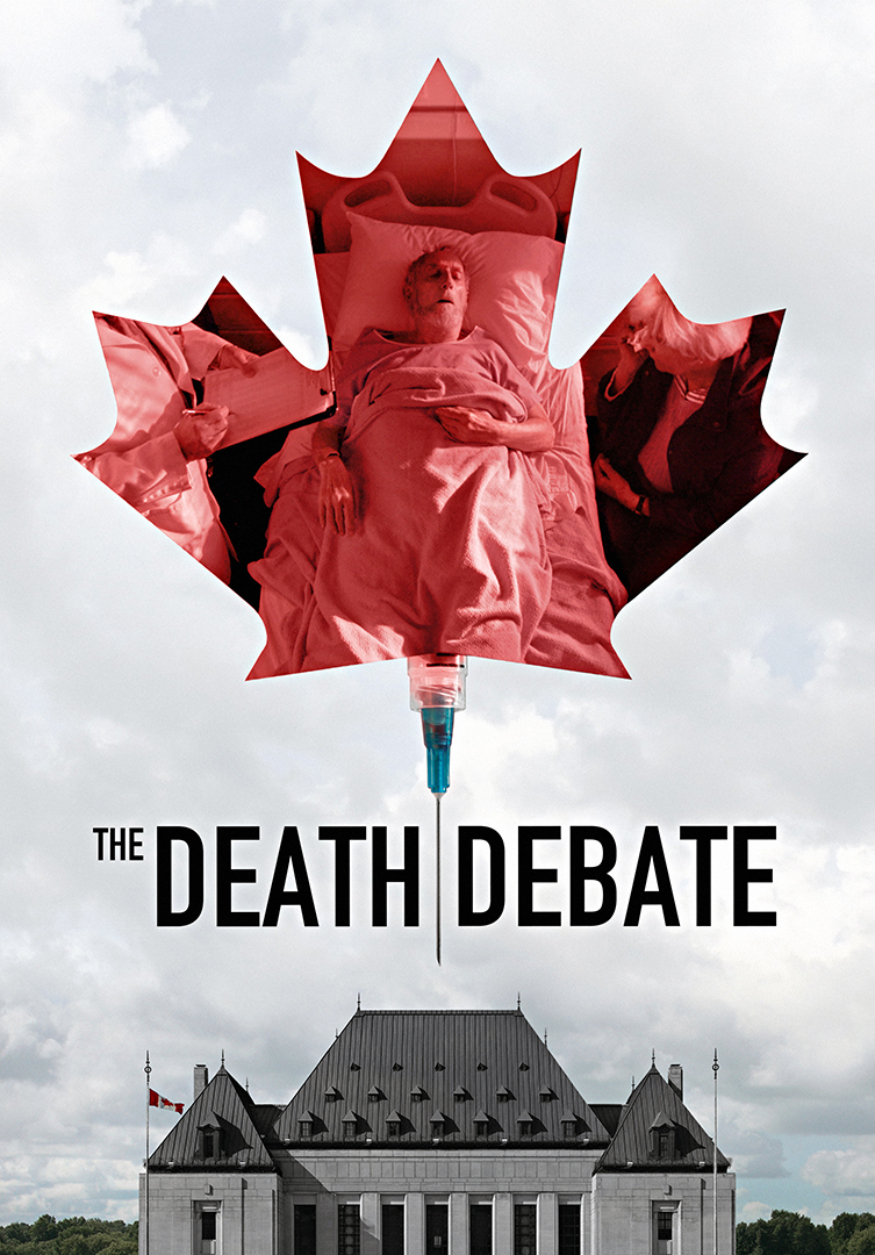 The Death Debate Clouds Treeline Poster Websize